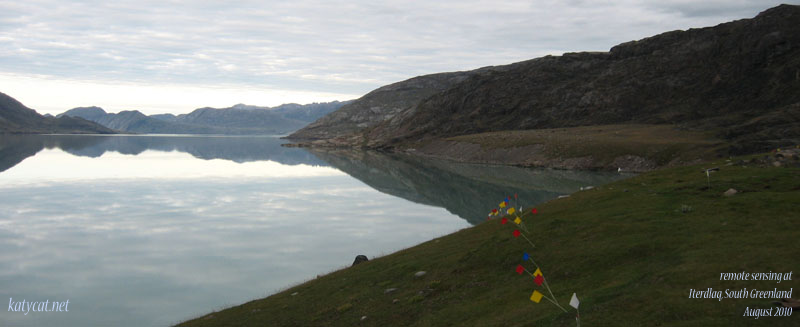 Remote sensing at the Western Settlement, Greenland, 2010